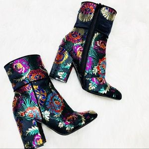 Steve Madden embroidered oriental booties